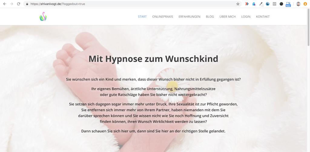 Webseite Gesundheitsexperte